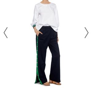 Tibi Poplin Snap Side Track Pants Cotton tech XS